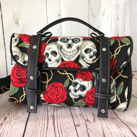Sac cartable Miss Skull & Roses